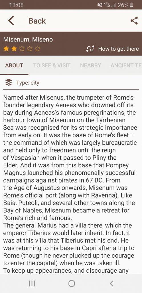 Time Travel Rome misenum