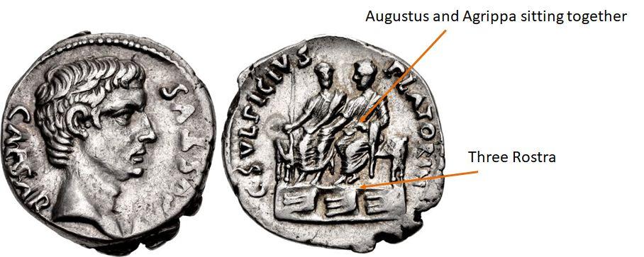AR Denarius. C. Sulpicius Platorinus, moneyer. Struck 13 BC. Rome mint