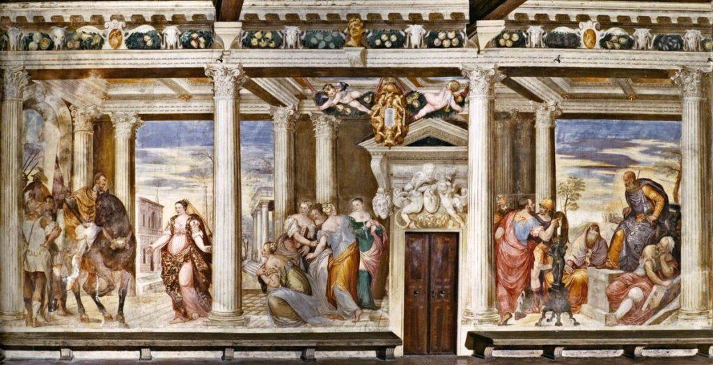 Giovanni Antonio Fasolo, Castello Porto Colleoni Thiene, Sofonisba before Masinissa
