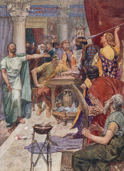 The quarrel between Alexander and Cleitus