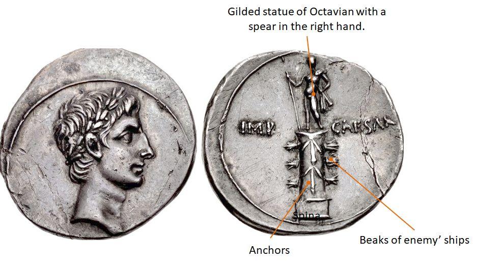 Octavian. 30-29 BC. AR Denarius.