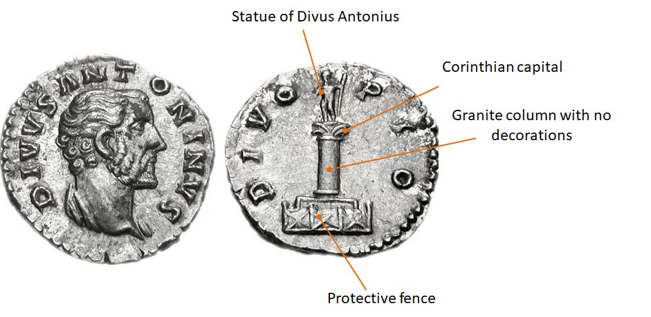 Divus Antoninus Pius. Denarius.