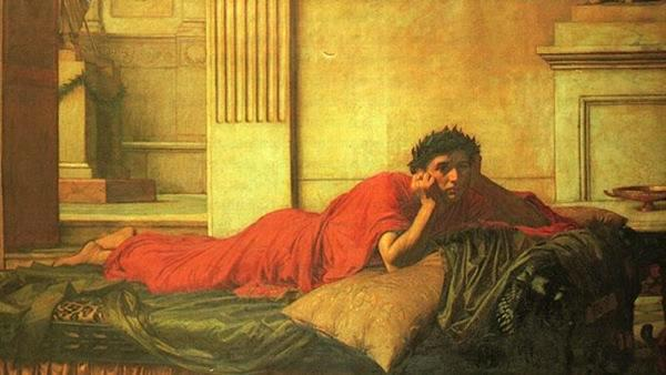 John William Waterhouse - The Remorse of the Emperor Nero after the Murder of his Mother